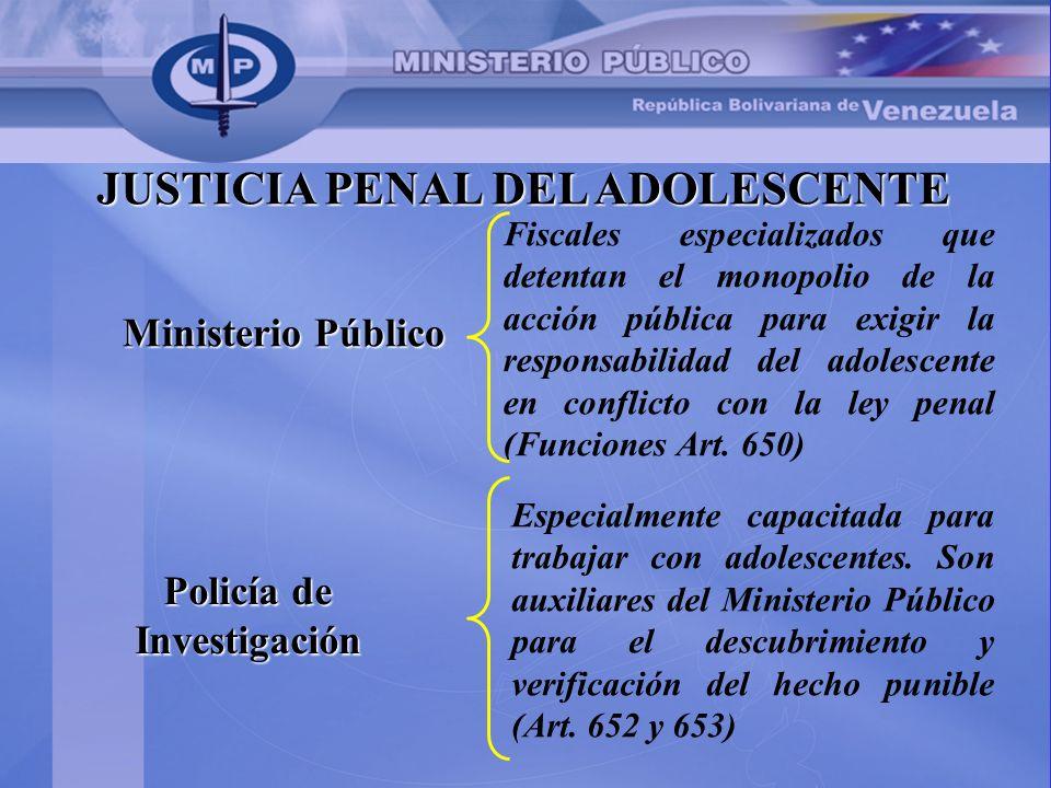 JUSTICIA PENAL DEL ADOLESCENTE