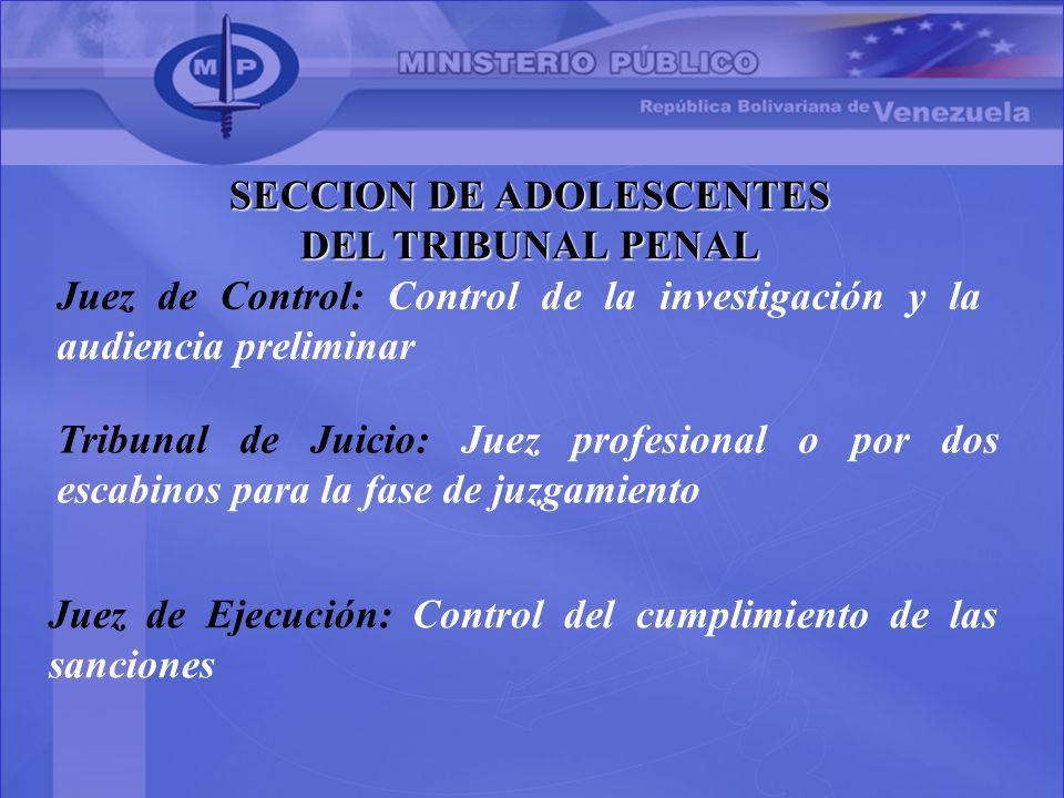 SECCION DE ADOLESCENTES