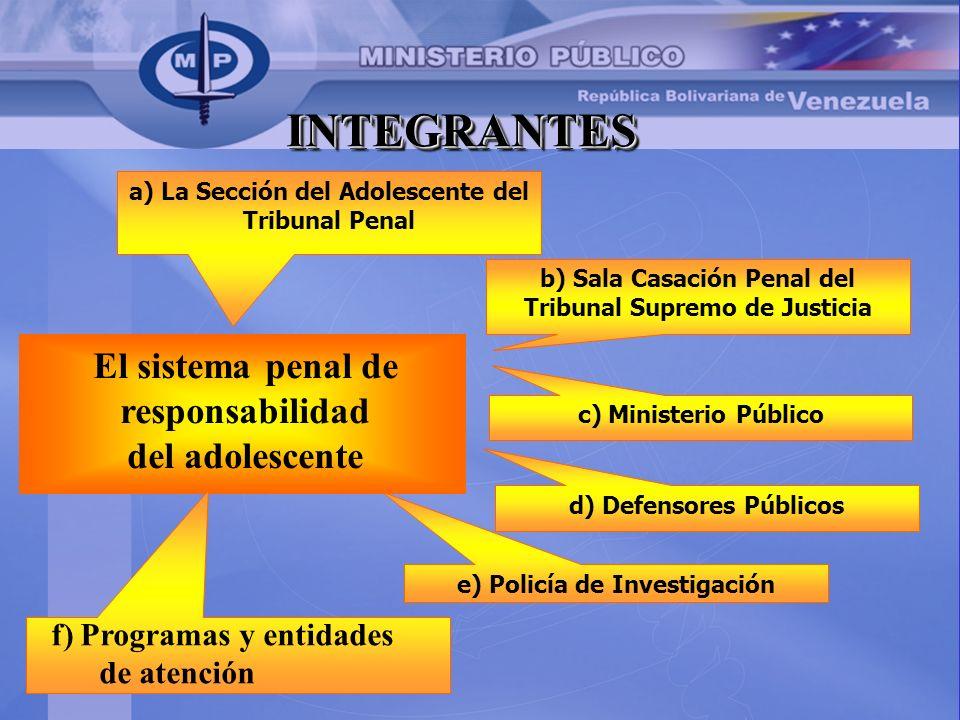 INTEGRANTES El sistema penal de responsabilidad del adolescente