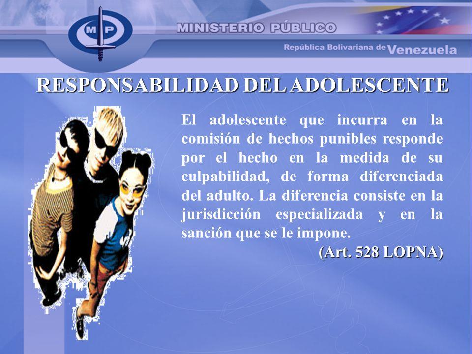 RESPONSABILIDAD DEL ADOLESCENTE
