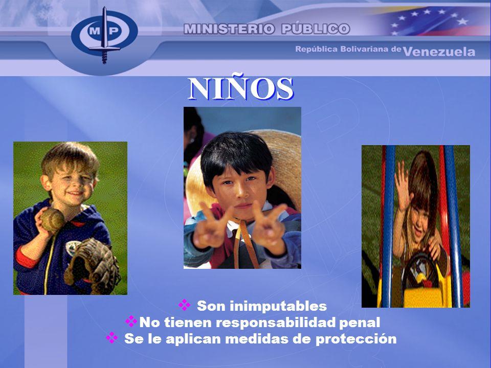 NIÑOS Son inimputables No tienen responsabilidad penal
