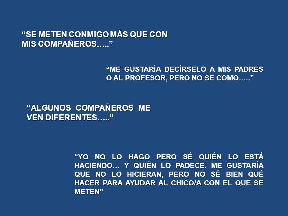 SE METEN CONMIGO MÁS QUE CON MIS COMPAÑEROS…..