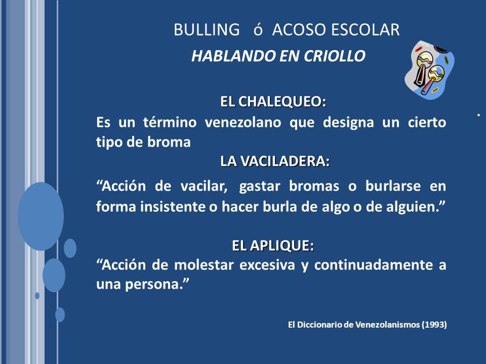 BULLING ó ACOSO ESCOLAR