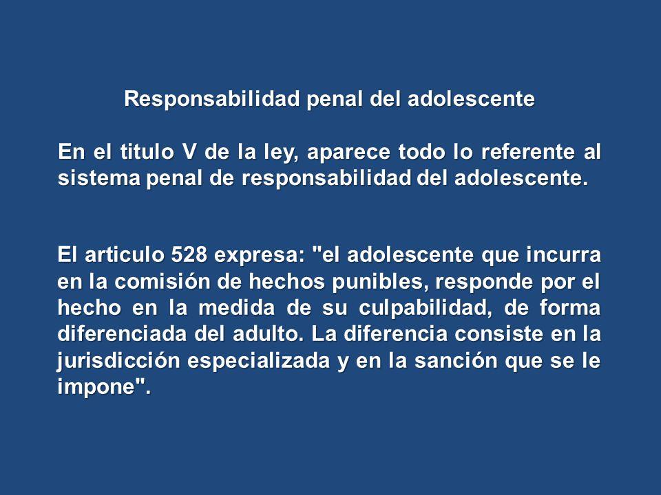 Responsabilidad penal del adolescente