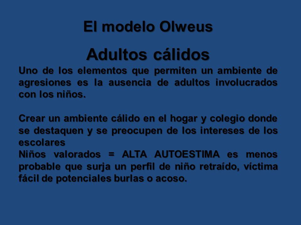 Adultos cálidos El modelo Olweus