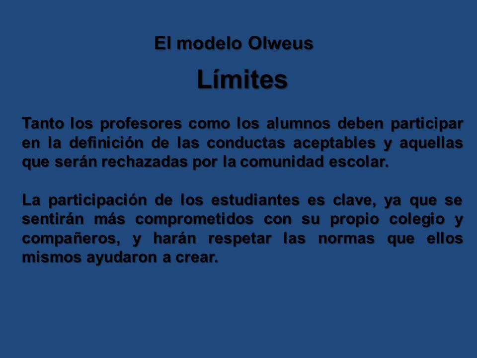 Límites El modelo Olweus