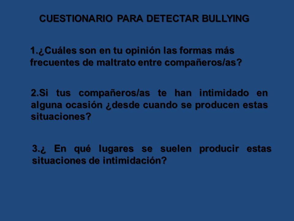 CUESTIONARIO PARA DETECTAR BULLYING