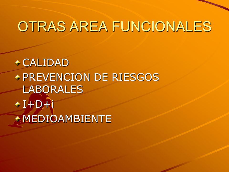 OTRAS AREA FUNCIONALES