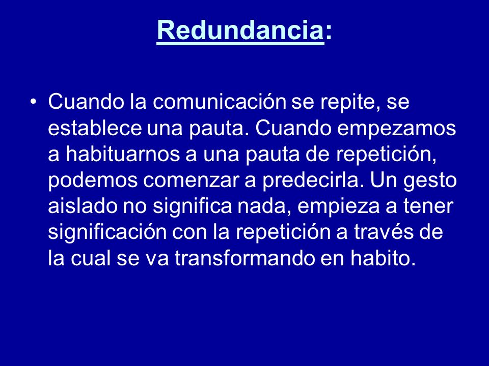 Redundancia: