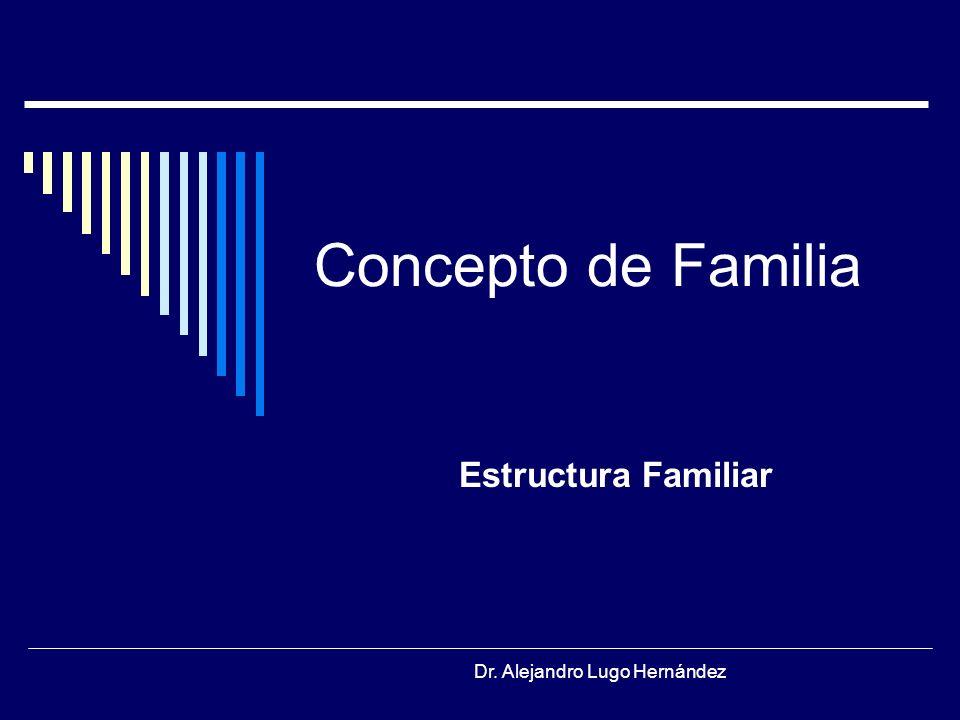 Concepto de Familia Estructura Familiar Dr. Alejandro Lugo Hernández
