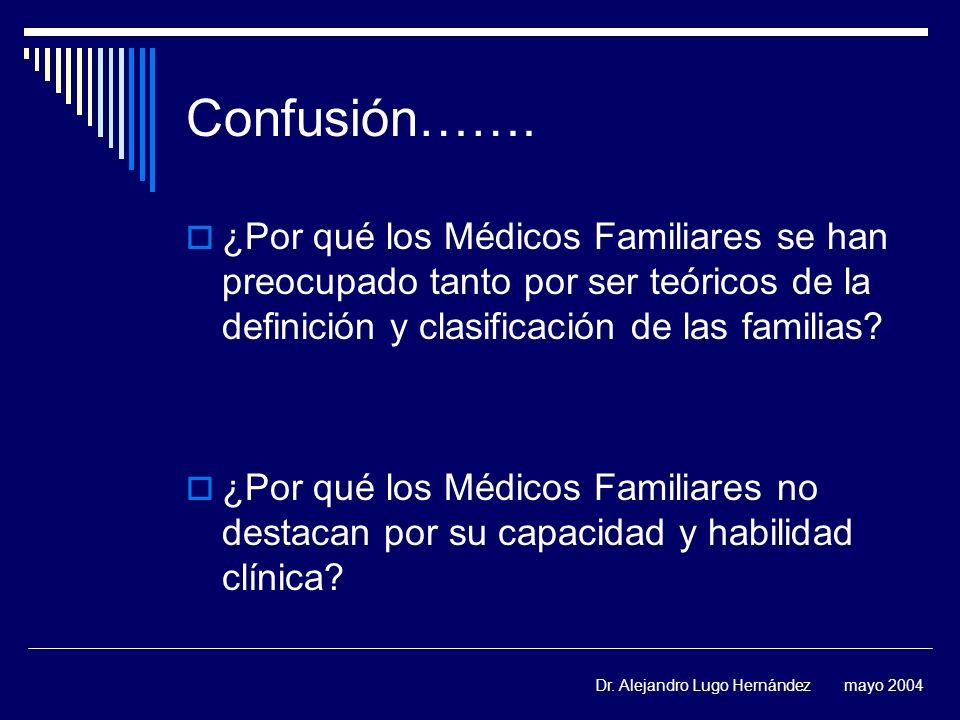 Confusión……. ¿Por qué los Médicos Familiares se han preocupado tanto por ser teóricos de la definición y clasificación de las familias