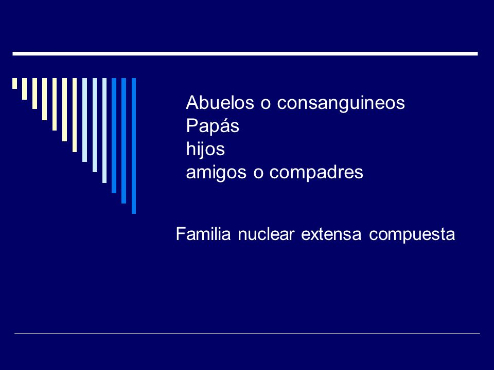 Familia nuclear extensa compuesta