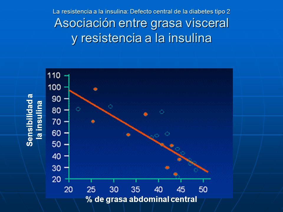 Sensibilidad a la insulina % de grasa abdominal central