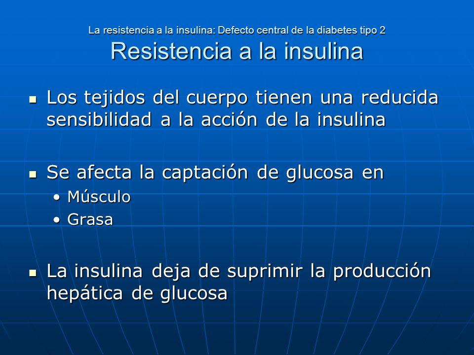 Se afecta la captación de glucosa en
