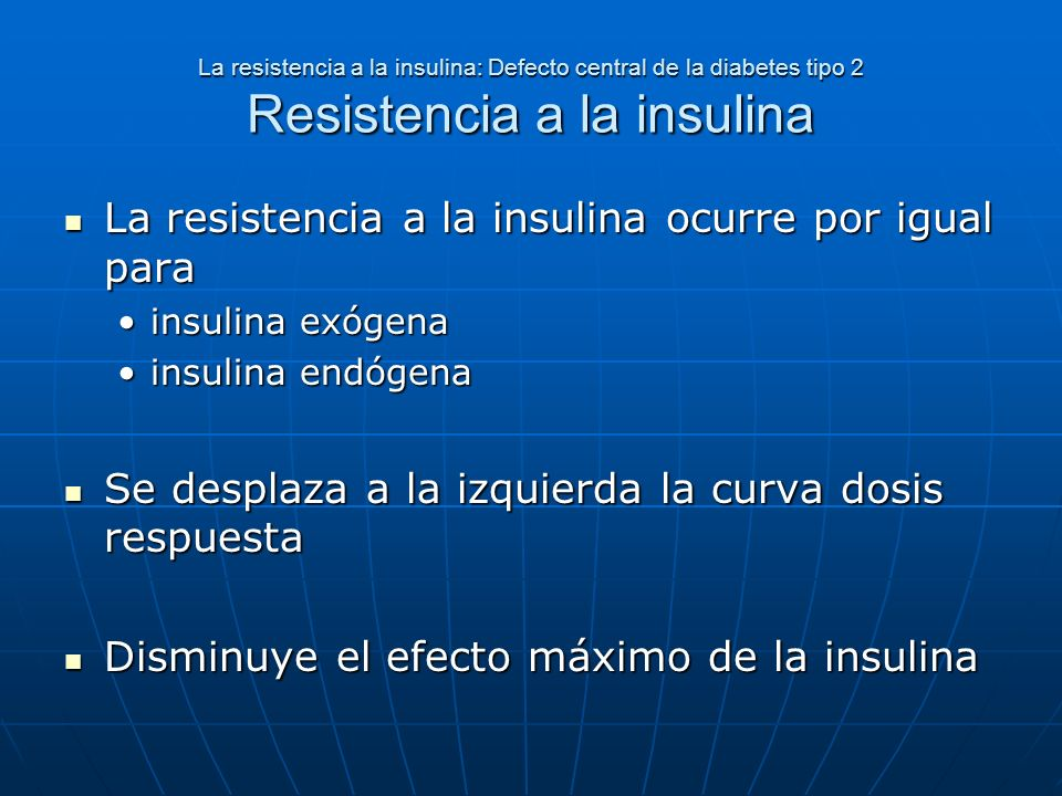 La resistencia a la insulina ocurre por igual para
