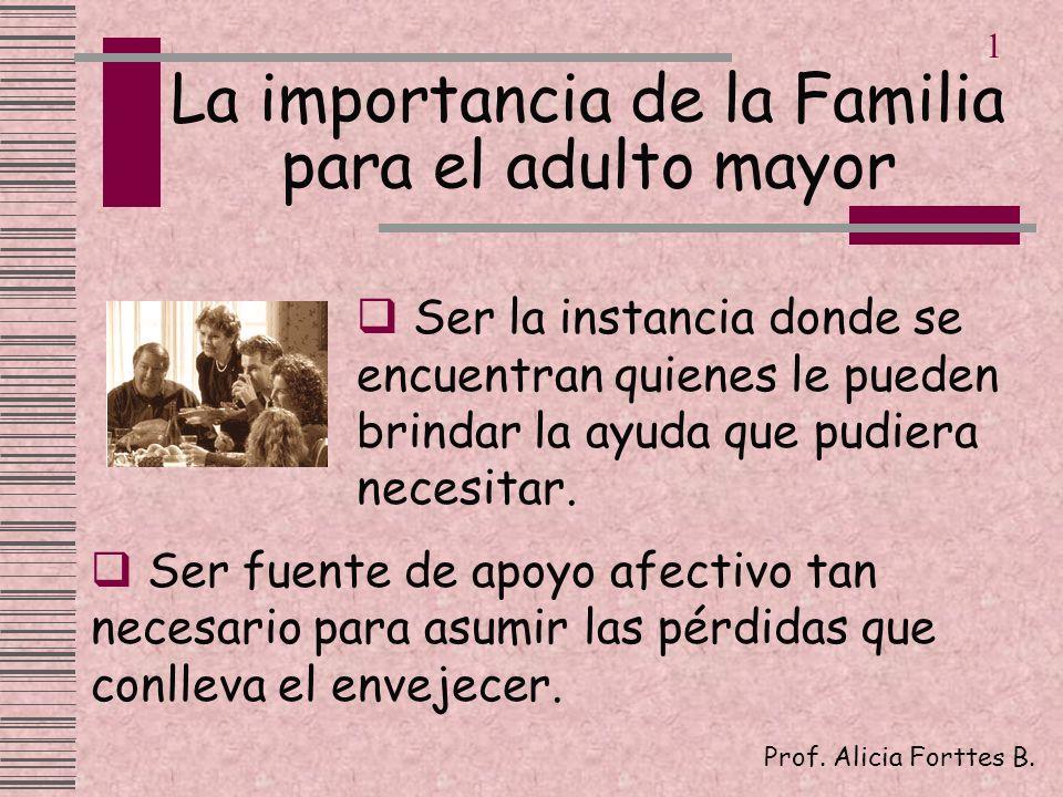 La importancia de la Familia para el adulto mayor