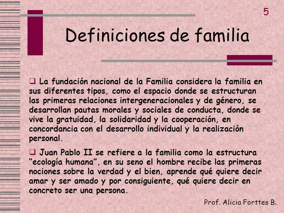 Definiciones de familia