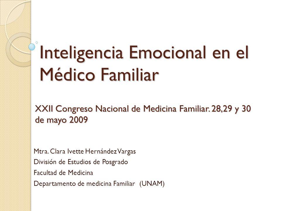 Inteligencia Emocional en el Médico Familiar