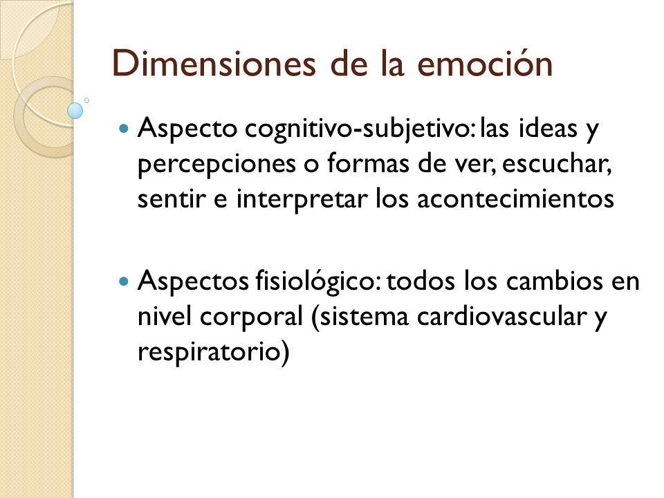 Dimensiones de la emoción
