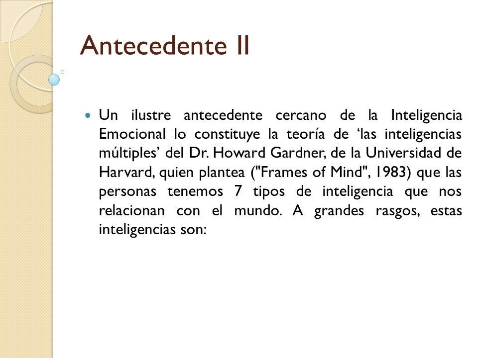 Antecedente II