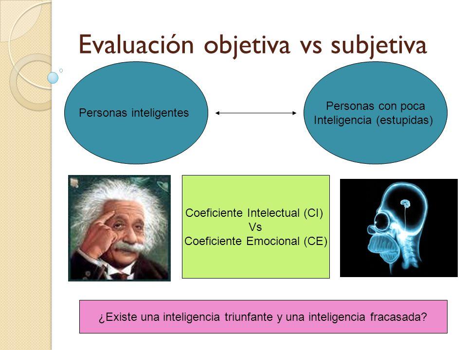 Evaluación objetiva vs subjetiva