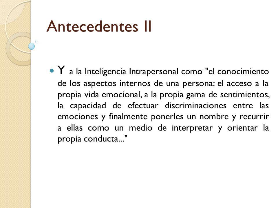 Antecedentes II