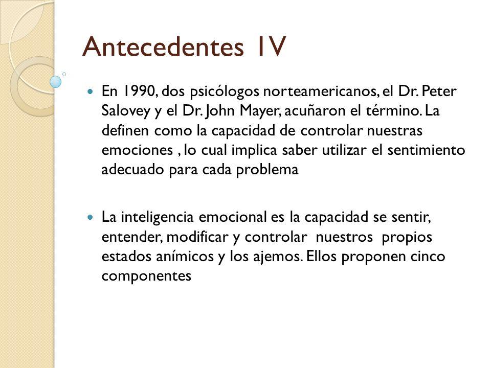 Antecedentes 1V