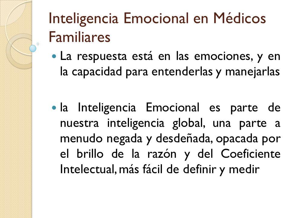 Inteligencia Emocional en Médicos Familiares