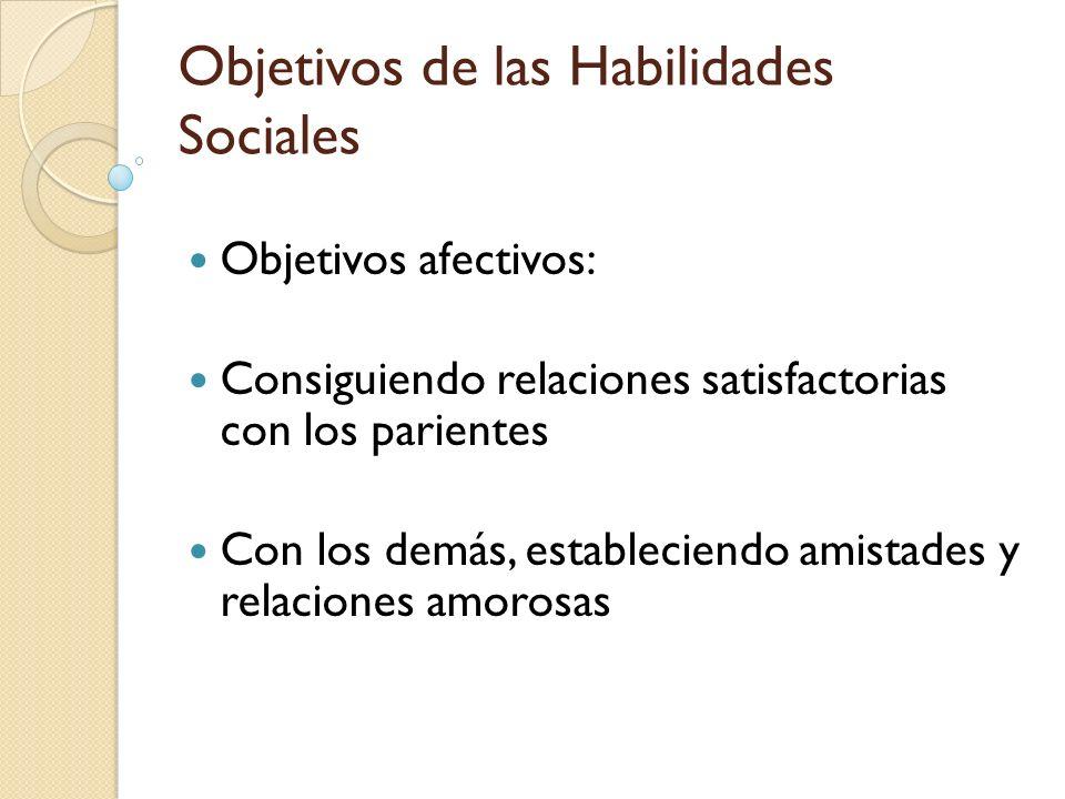 Objetivos de las Habilidades Sociales