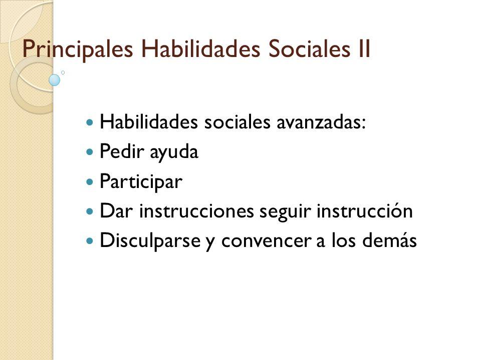 Principales Habilidades Sociales II