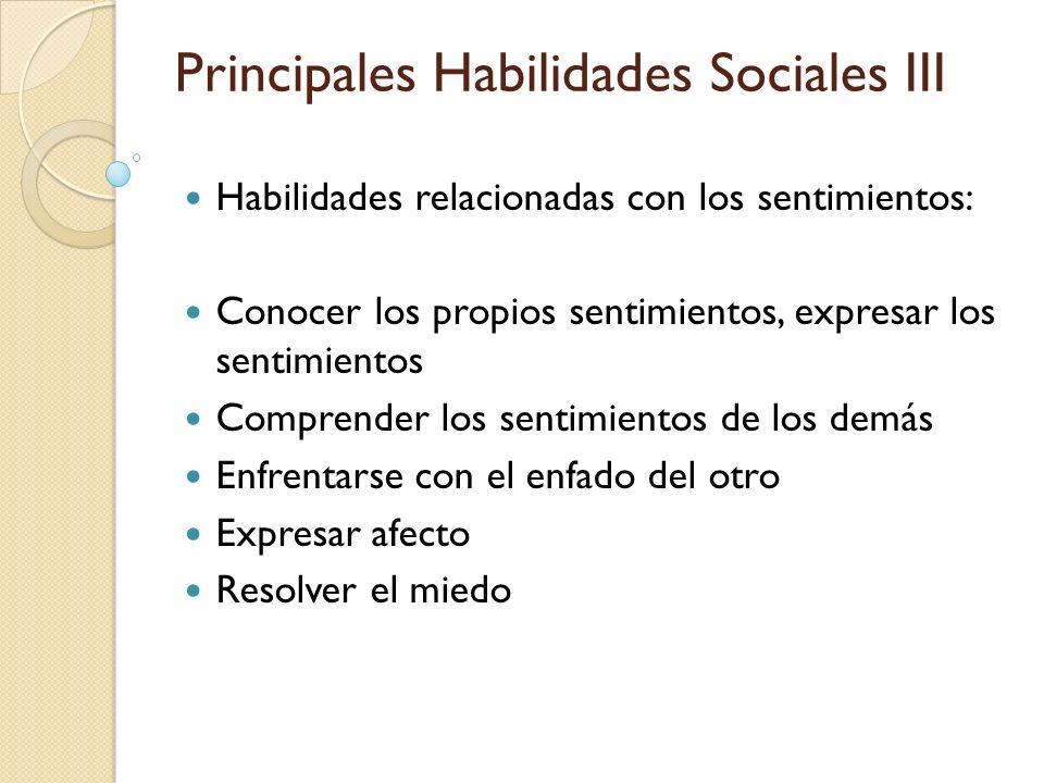 Principales Habilidades Sociales III