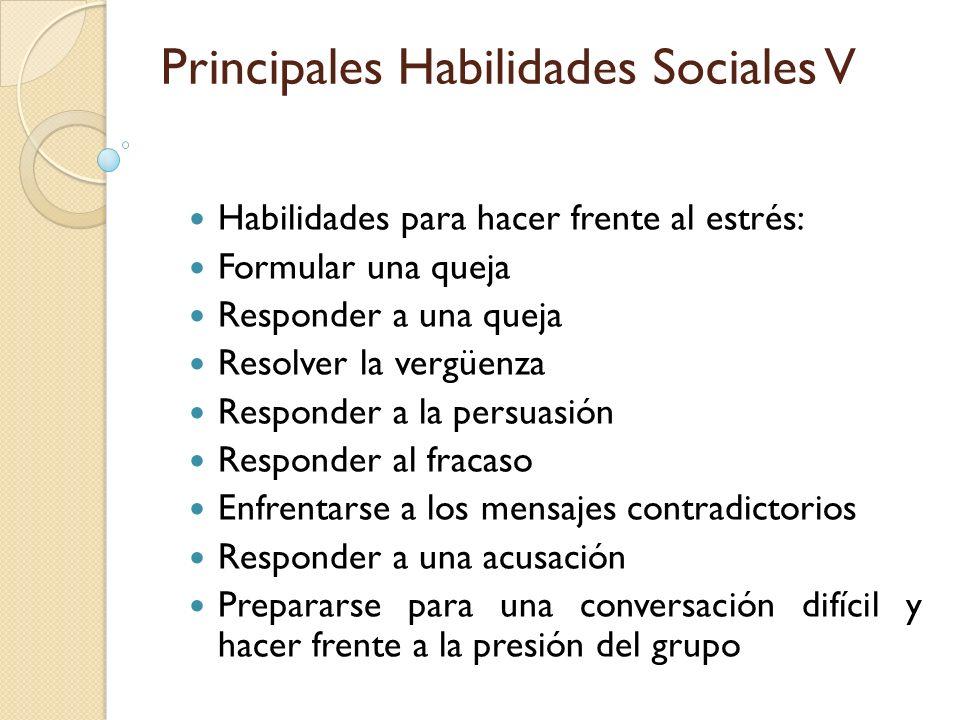 Principales Habilidades Sociales V