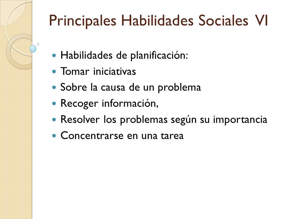 Principales Habilidades Sociales VI