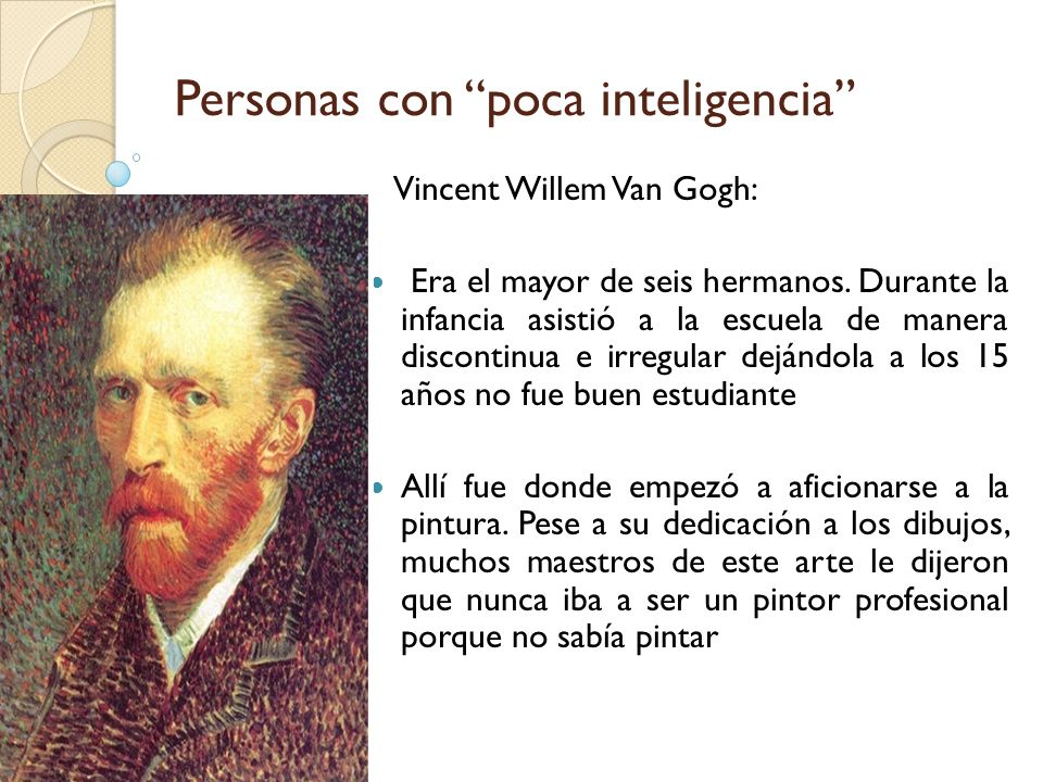 Personas con poca inteligencia