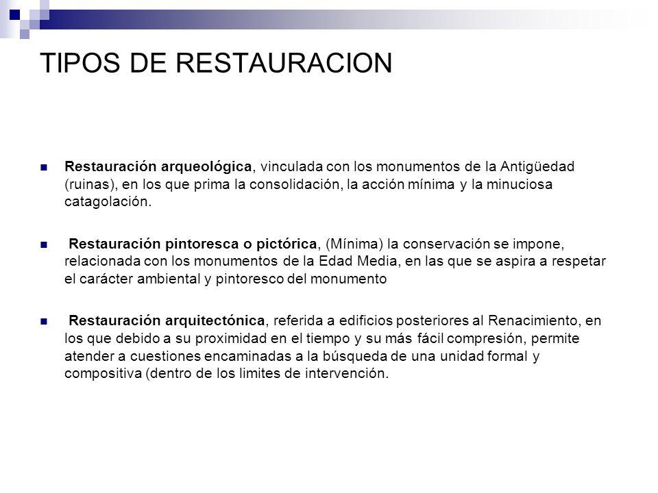 TIPOS DE RESTAURACION
