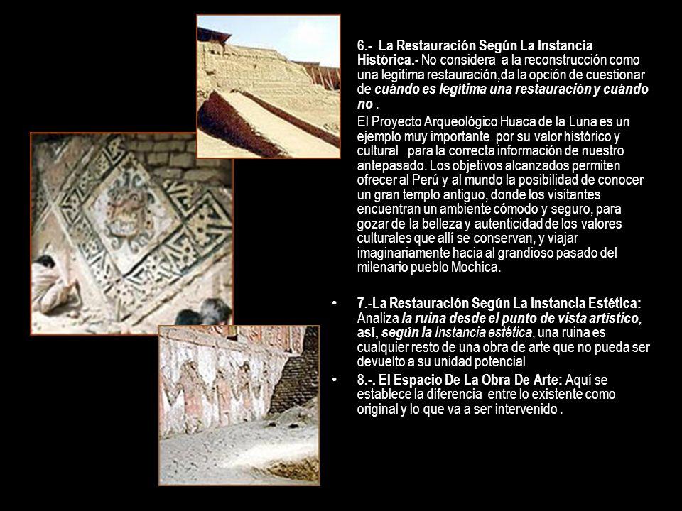 6. - La Restauración Según La Instancia Histórica