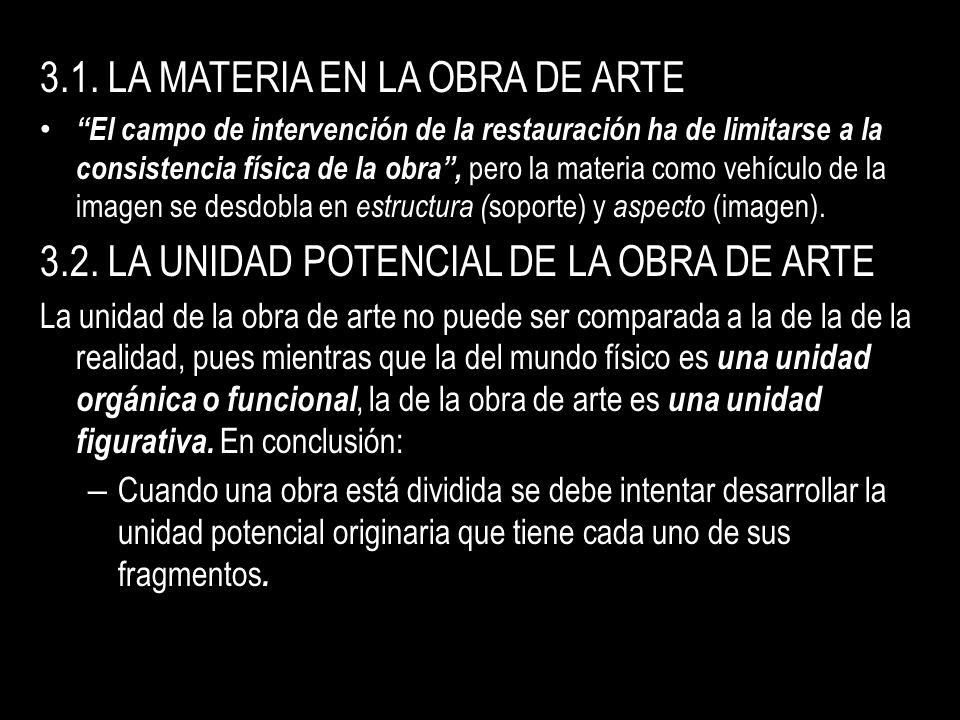 3.1. LA MATERIA EN LA OBRA DE ARTE