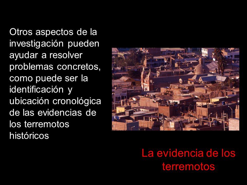 La evidencia de los terremotos
