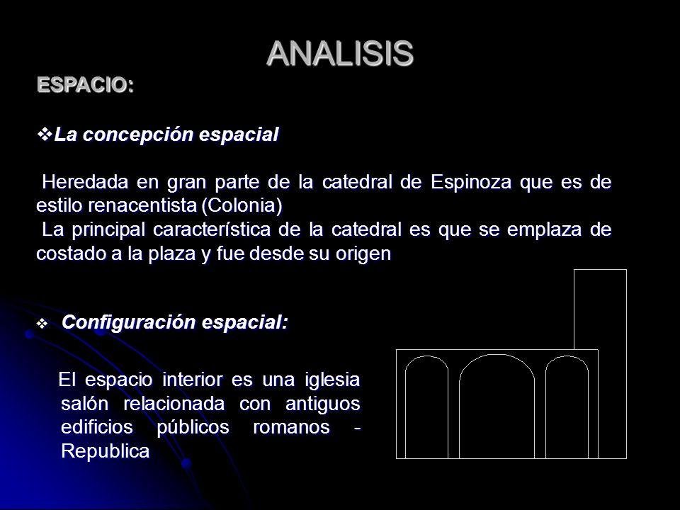 ANALISIS ESPACIO: La concepción espacial