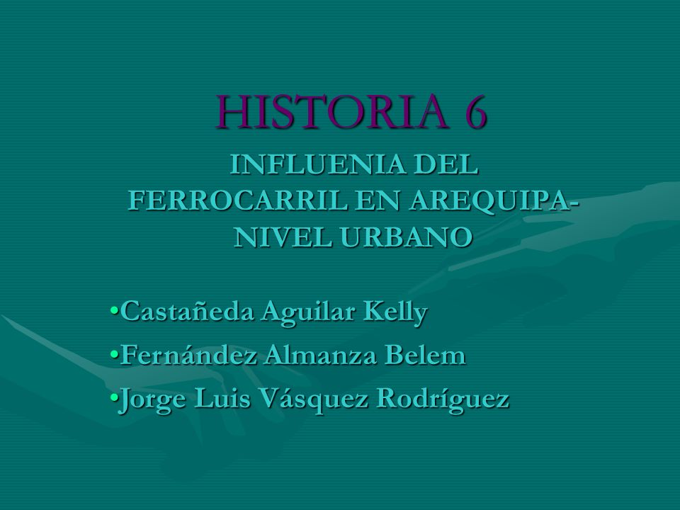 INFLUENIA DEL FERROCARRIL EN AREQUIPA-NIVEL URBANO