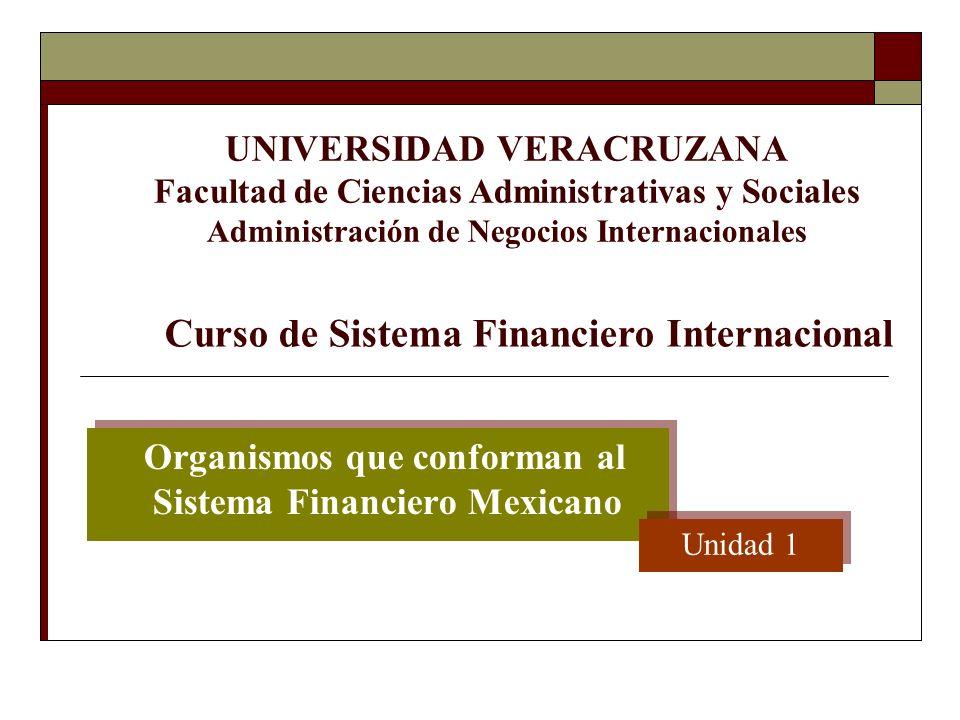 Organismos que conforman al Sistema Financiero Mexicano