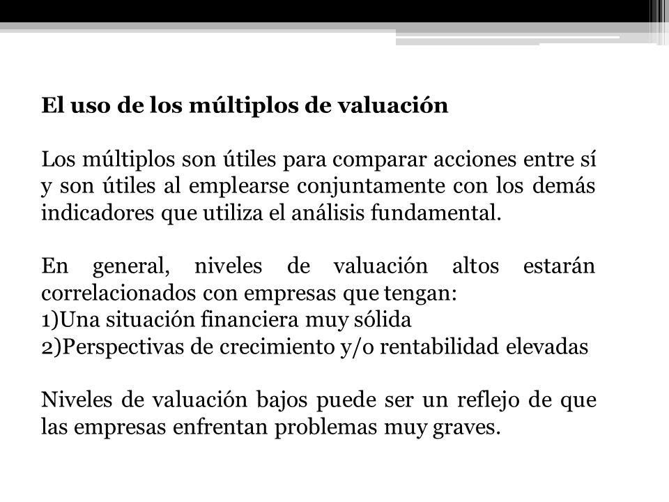 El uso de los múltiplos de valuación