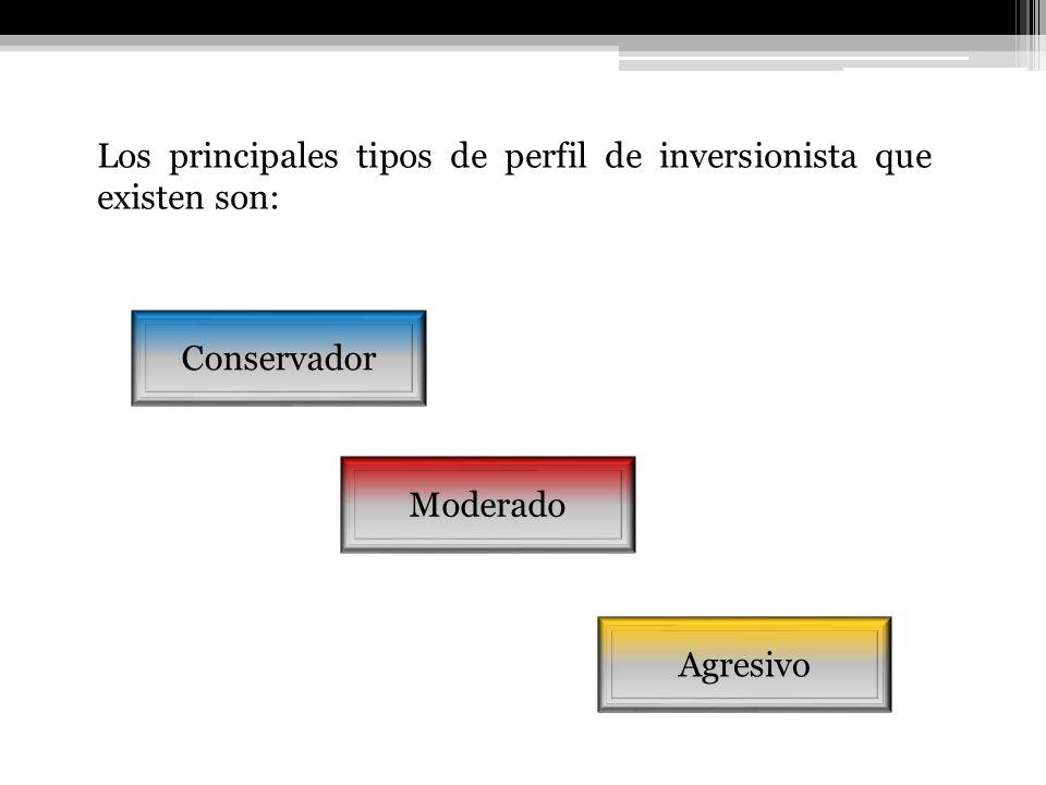 Los principales tipos de perfil de inversionista que existen son: