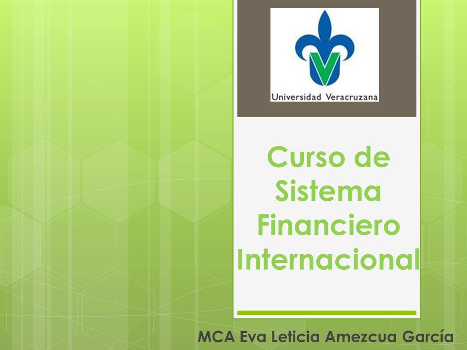 Curso de Sistema Financiero Internacional