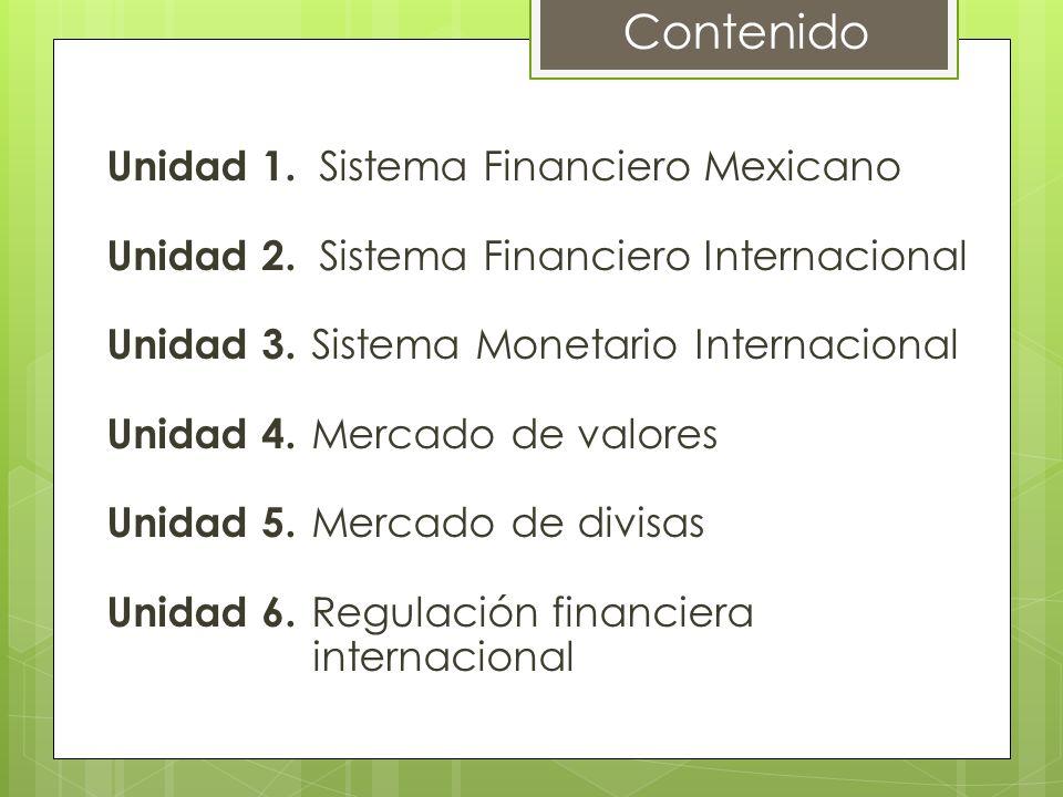 Contenido Unidad 1. Sistema Financiero Mexicano