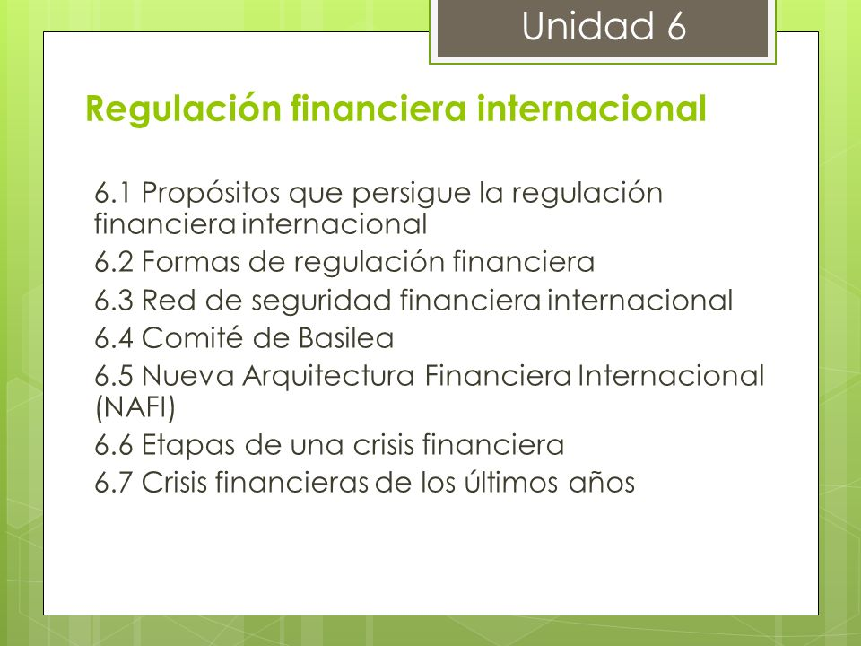 Regulación financiera internacional