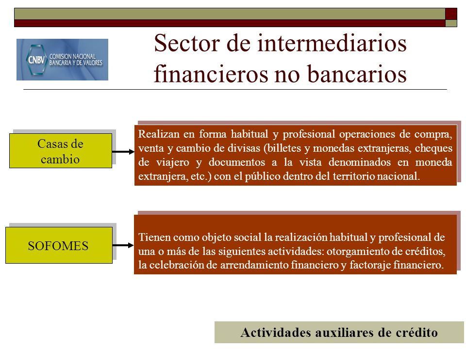 Sector de intermediarios financieros no bancarios
