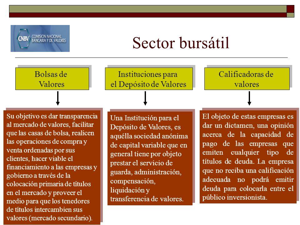 Sector bursátil Bolsas de Valores Instituciones para