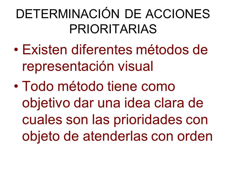 DETERMINACIÓN DE ACCIONES PRIORITARIAS