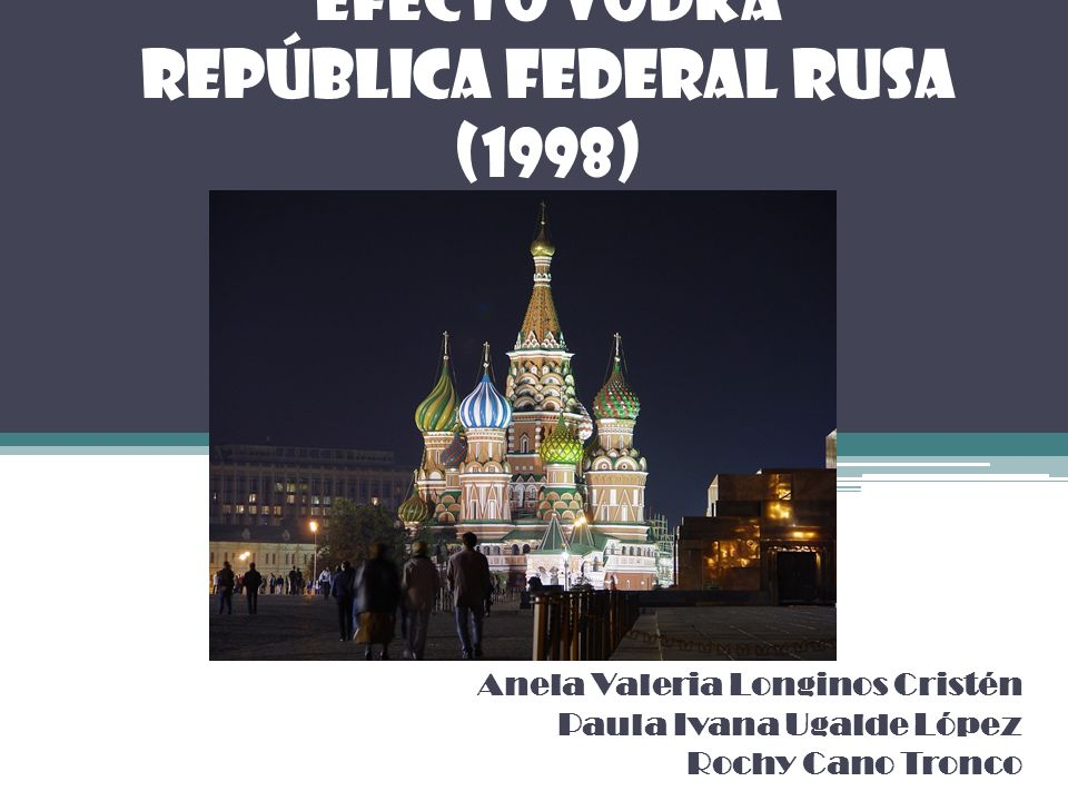 EFECTO VODKA República Federal Rusa (1998)